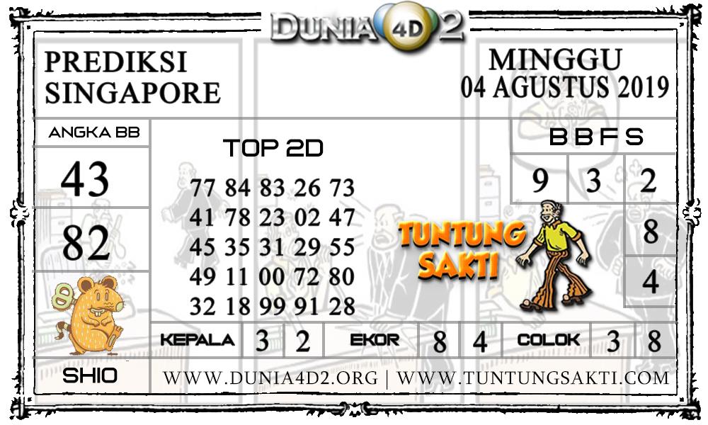 """Prediksi Togel """"SINGAPORE"""" DUNIA4D2 04 AGUSTUS 2019"""
