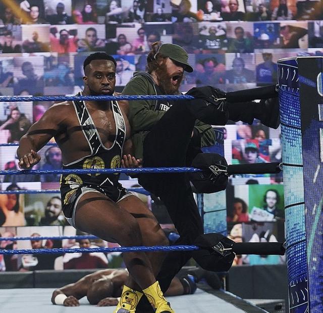 Apollo Crews vs Big E SmackDown 22 enero