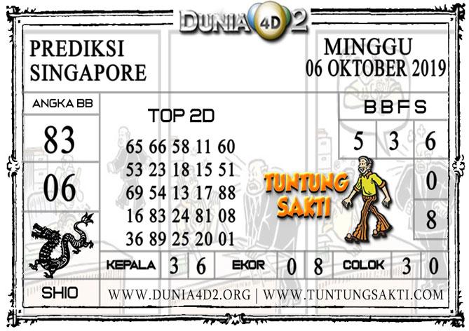 """Prediksi Togel """"SINGAPORE"""" DUNIA4D2 06 OKTOBER 2019"""