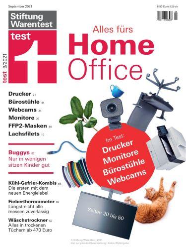 Cover: Stiftung Warentest Test-Magazin No 09 September 2021