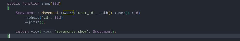 método show del controller