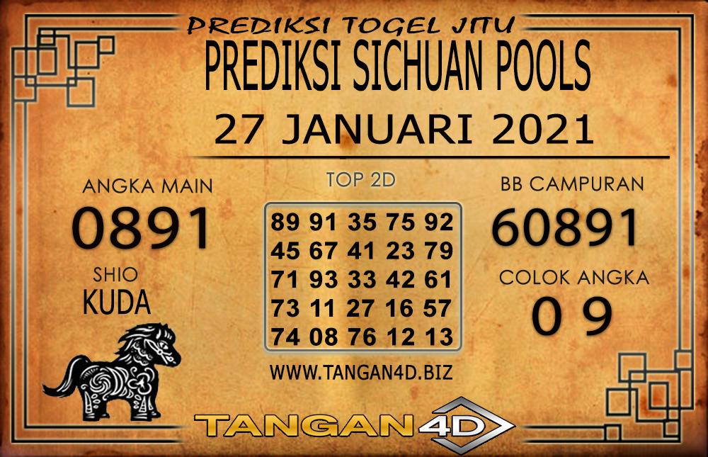 PREDIKSI TOGEL SICHUAN TANGAN4D 27 JANUARI 2021