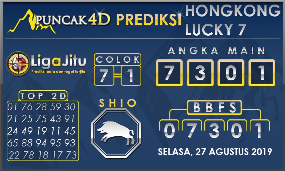 PREDIKSI TOGEL HONGKONG LUCKY7 PUNCAK4D 27 AGUSTUS 2019