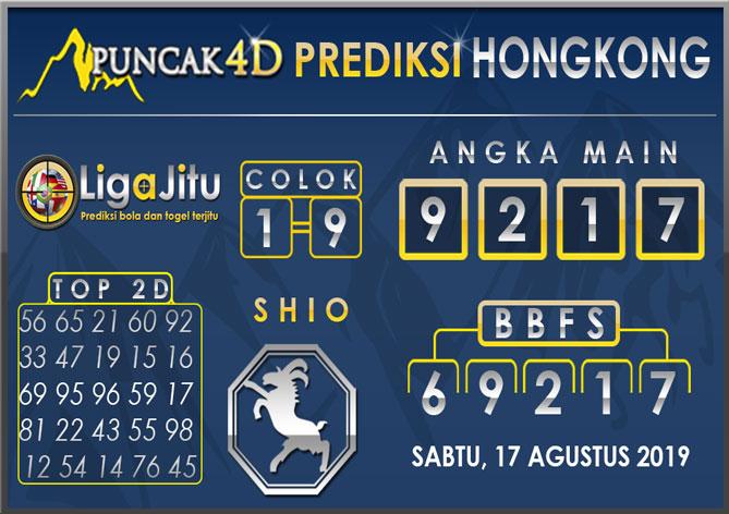 PREDIKSI TOGEL HONGKONG PUNCAK4D 17 AGUSTUS 2019
