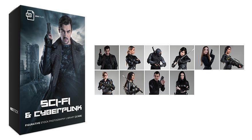 Sci Fi and Cyberpunk Product Splash