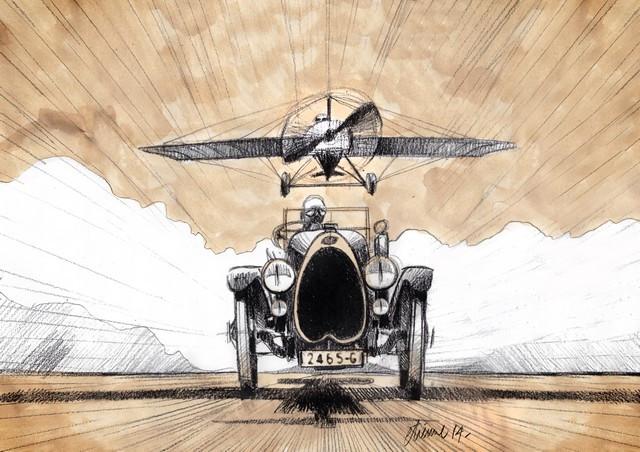 Les risque-tout chez Bugatti – entre l'avion et la voiture de course  04-roland-garros-airplane-design-sketch