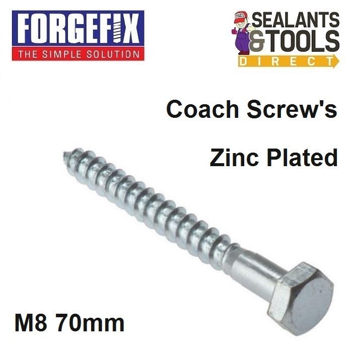 Forgefix-Coach-Screw-M8-70mm-10-CS870