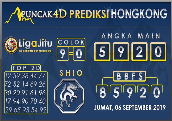PREDIKSI TOGEL HONGKONG PUNCAK4D 06 SEPTEMBER 2019