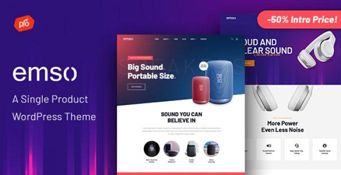 Emso – A Single Product Theme - Wordpress