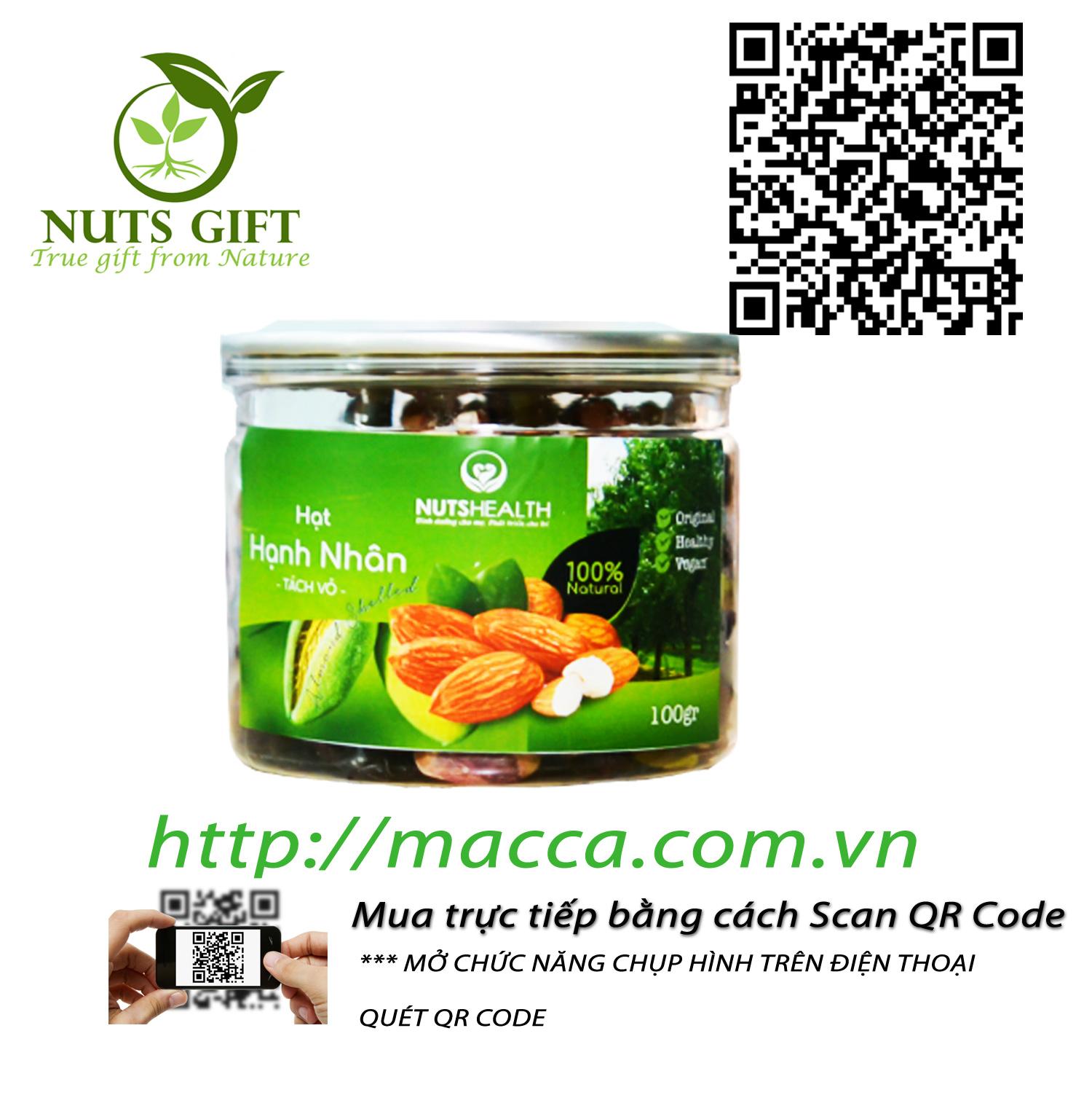 Nhân Hạt Hạnh Nhân – Nutshealth – 200Gr