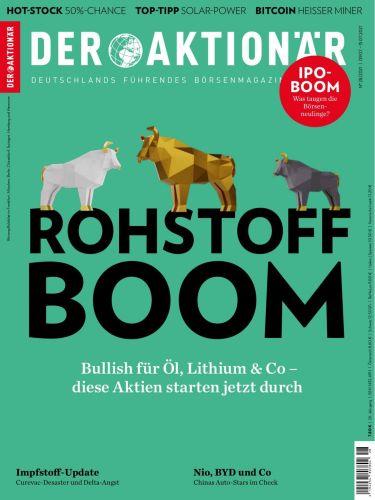Cover: Der Aktionär Magazin No 29 vom 09  Juli 2021