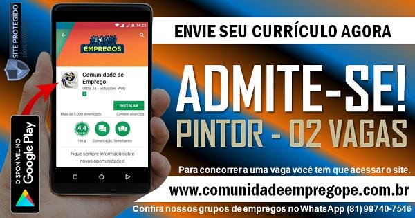 PINTOR, 02 VAGAS PARA AÇOUGUE DE MÉDIO PORTE NO RECIFE