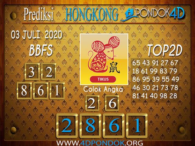 Prediksi Togel HONGKONG PONDOK4D 03 JULI 2020