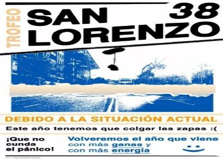 La 38 edición del Trofeo San Lorenzo queda suspendido