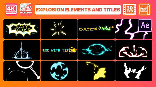 Explosion Elements And Titles | After Effects 28711751 - Project for After Effects (Videohive)