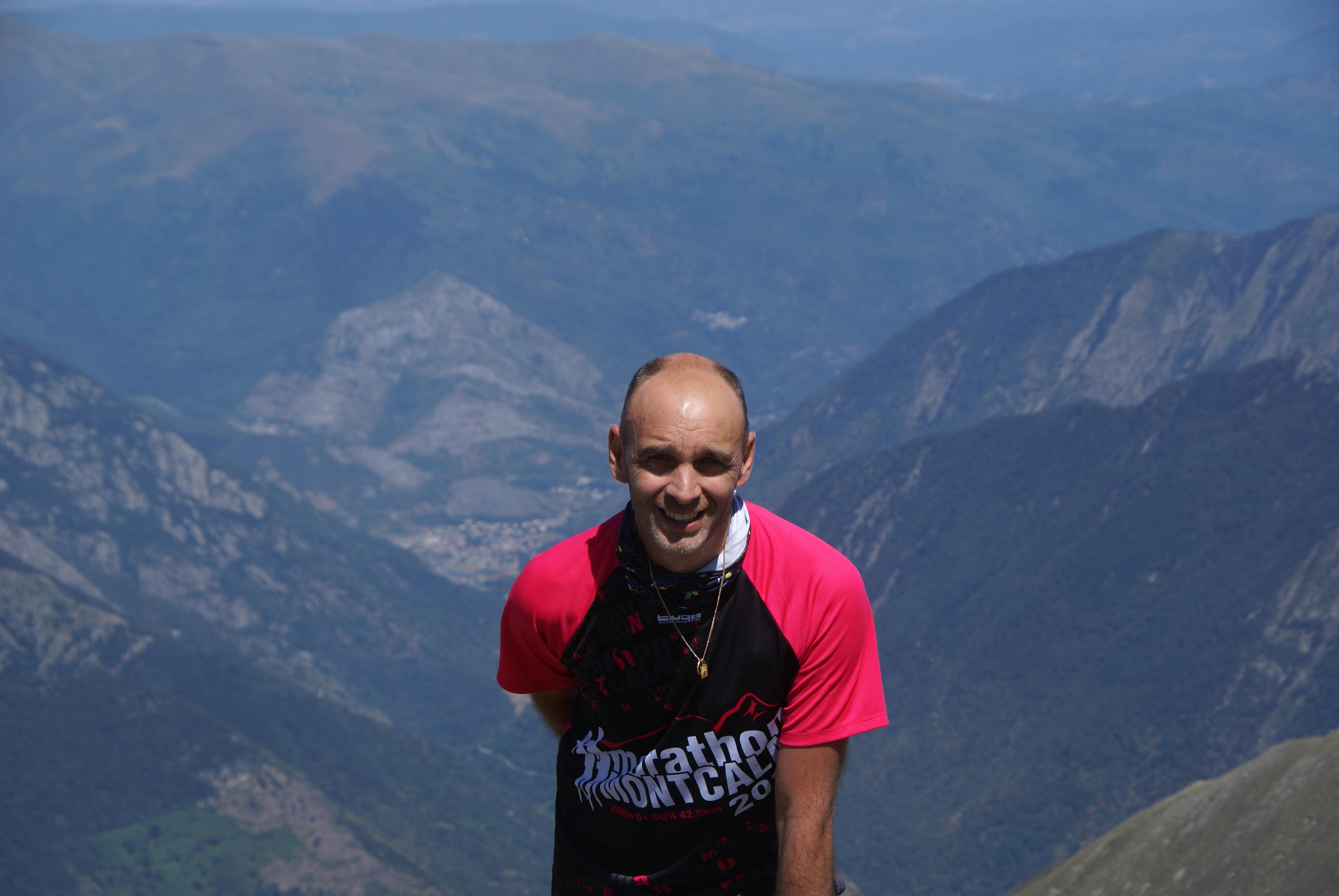 Gilles DENJEAN au sommet du Montcalm