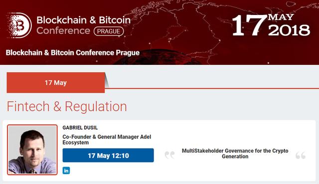 18 May 17 Prague Bitcoin Blockchain Conference