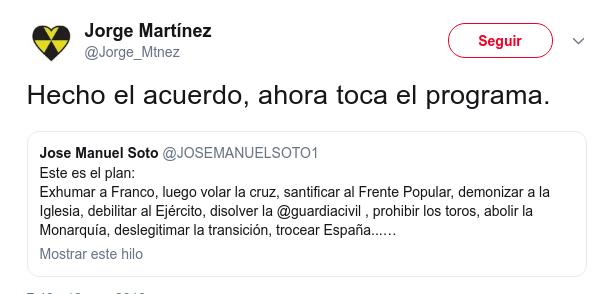 El cantante José Manuel Soto opina sobre la exhumación de Franco - Página 2 Xjsd73