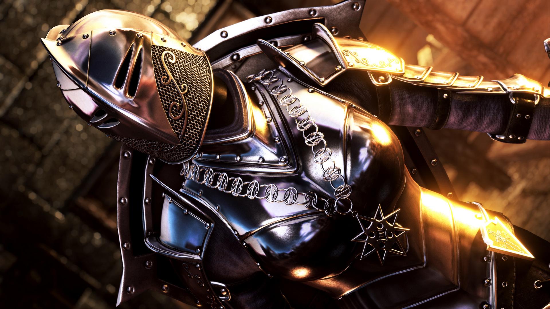 Скачать Доспехи тёмного рыцаря от DeserterX (SE) / DX Dark Knight Armor