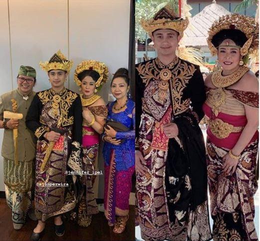 Ajun Perwira menikah dengan adat Bali
