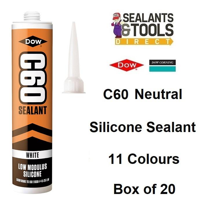 Dow Corning Dowsil C60 LM Silicone Sealant Coloured Box 20