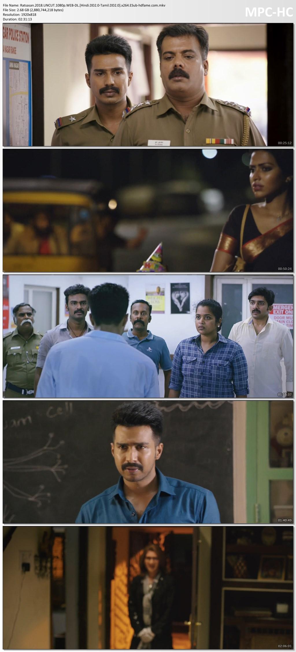 Raatchasan 2018 Dual Audio (Hindi-Tamil) Full Movie