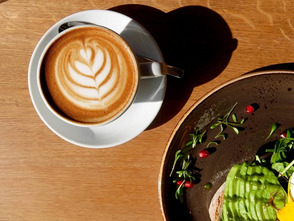 cold brew coffee latte