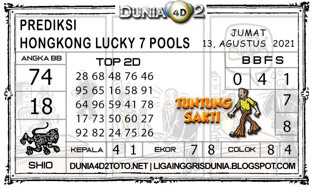 Prediksi Togel HONGKONG LUCKY7 DUNIA4D2 13 AGUSTUS 2021