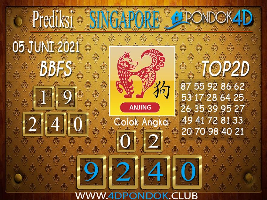 Prediksi Togel SINGAPORE PONDOK4D 05 JUNI 2021