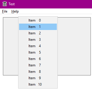 How to track menu item selecting event