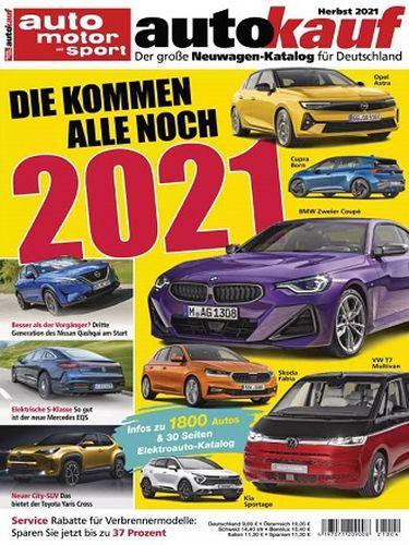 Cover: Auto Motor und Sport Magazin Autokauf Herbst 2021