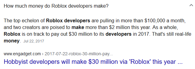 Roblox produces millionaires