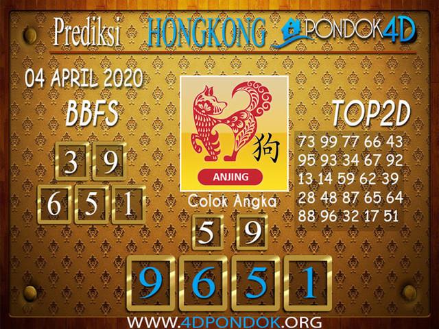 Prediksi Togel HONGKONG PONDOK4D 04 APRIL 2020
