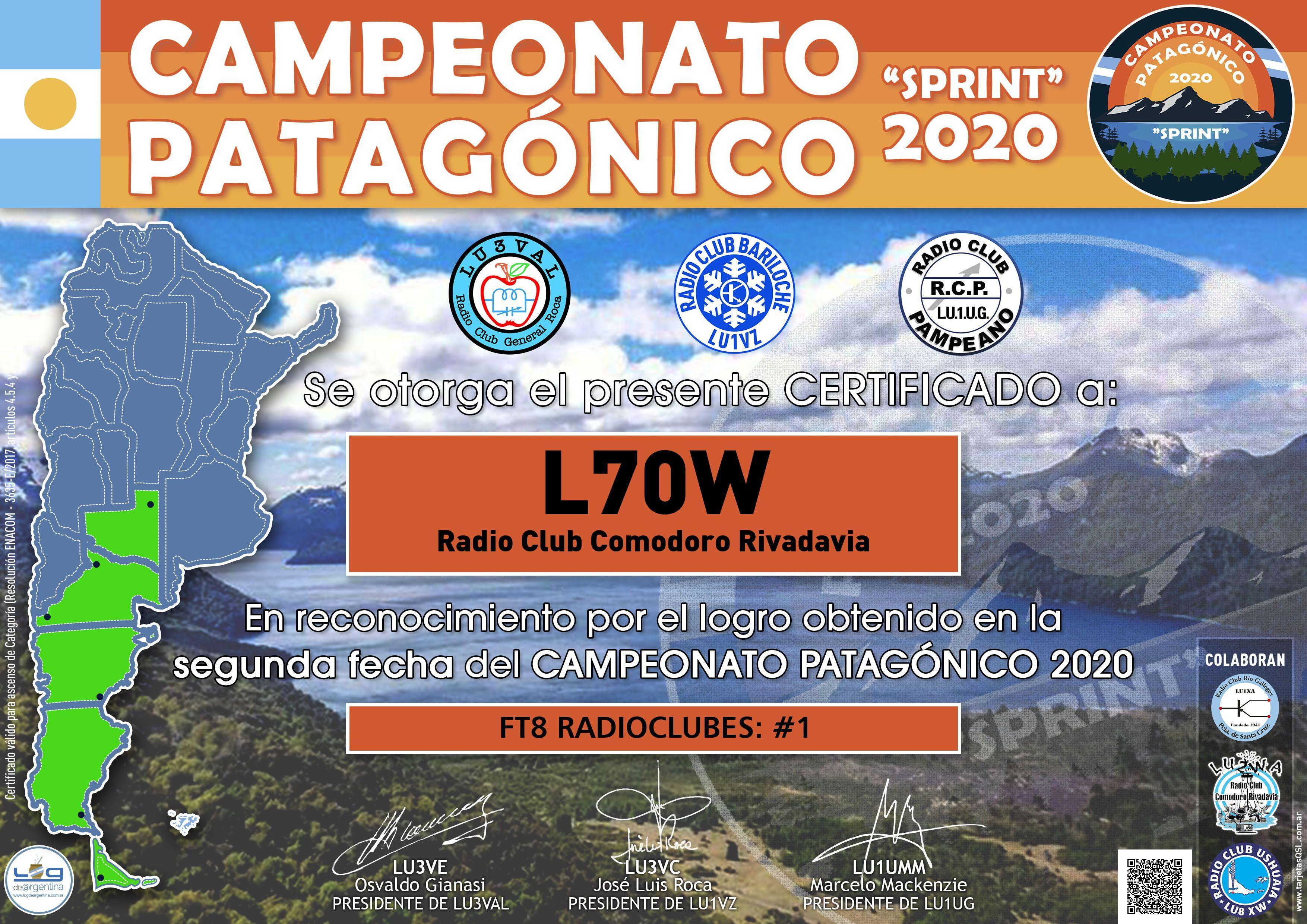 Resultados 2da. fecha Campeonato Patagónico 2020