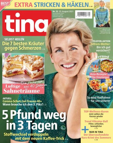 Cover: Tina Frauenmagazin No 35 vom 25  August 2021