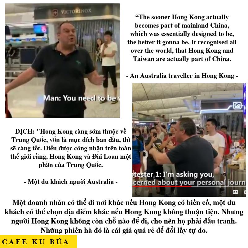 DU KHÁCH PHÀN NÀN VỀ BIỂU TÌNH Ở HONG KONG