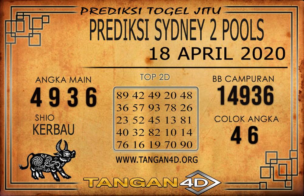 PREDIKSI TOGEL SYDNEY 2 TANGAN4D 18 APRIL 2020