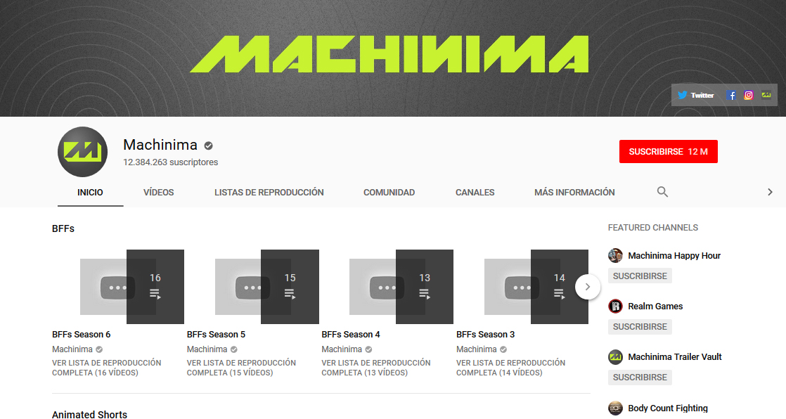 Canal de YouTube de Machinima