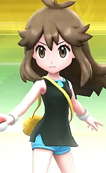 Pokemon Trainer Green Battle Pokemon Lets Go Eevee