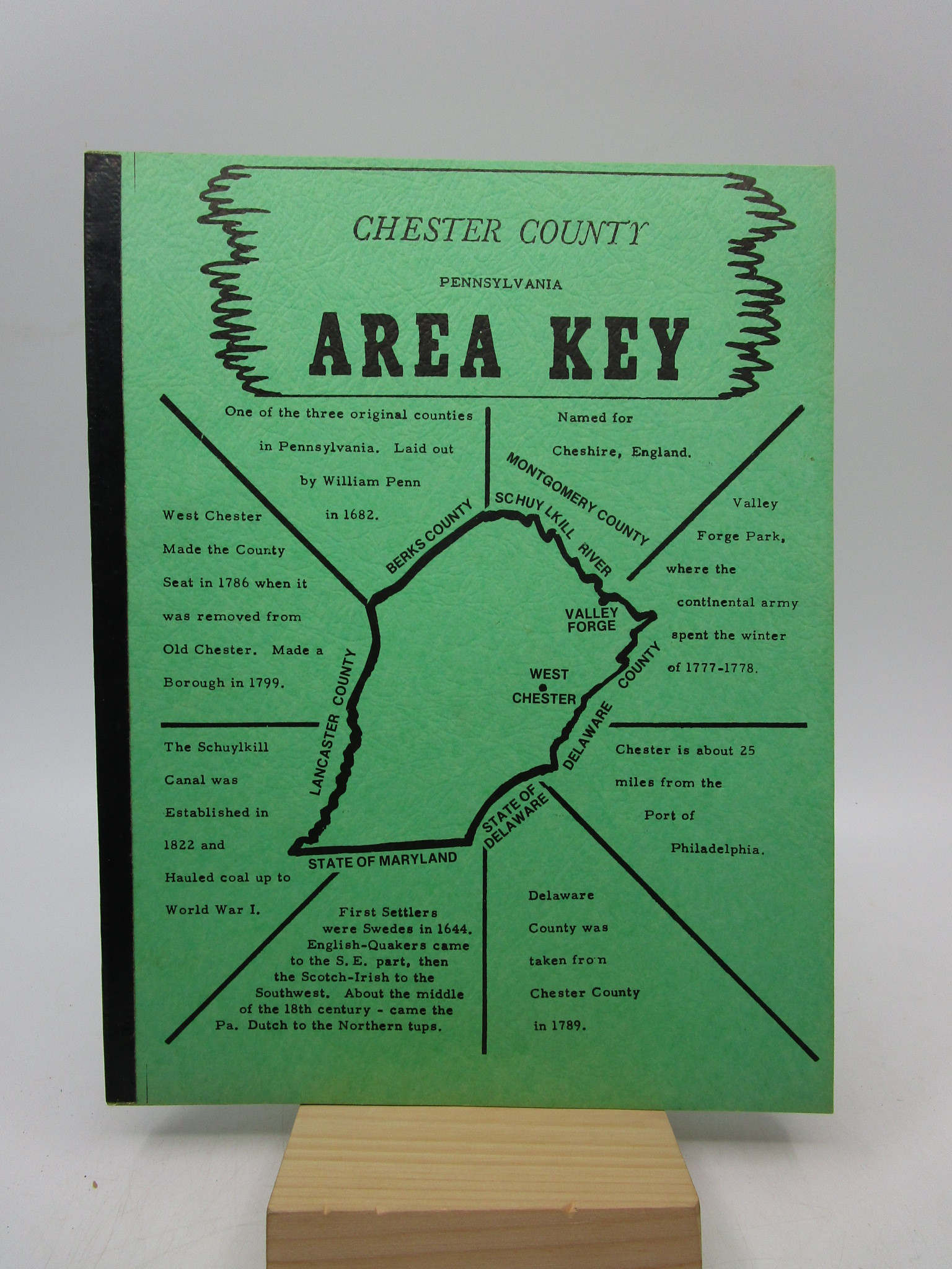 Image for Chester County Pennsylvania Area Key
