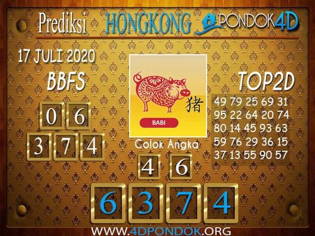 Prediksi Togel HONGKONG PONDOK4D 17 JULI 2020