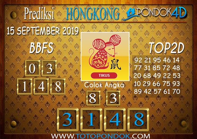 Prediksi Togel HONGKONG PONDOK4D 15 SEPTEMBER 2019