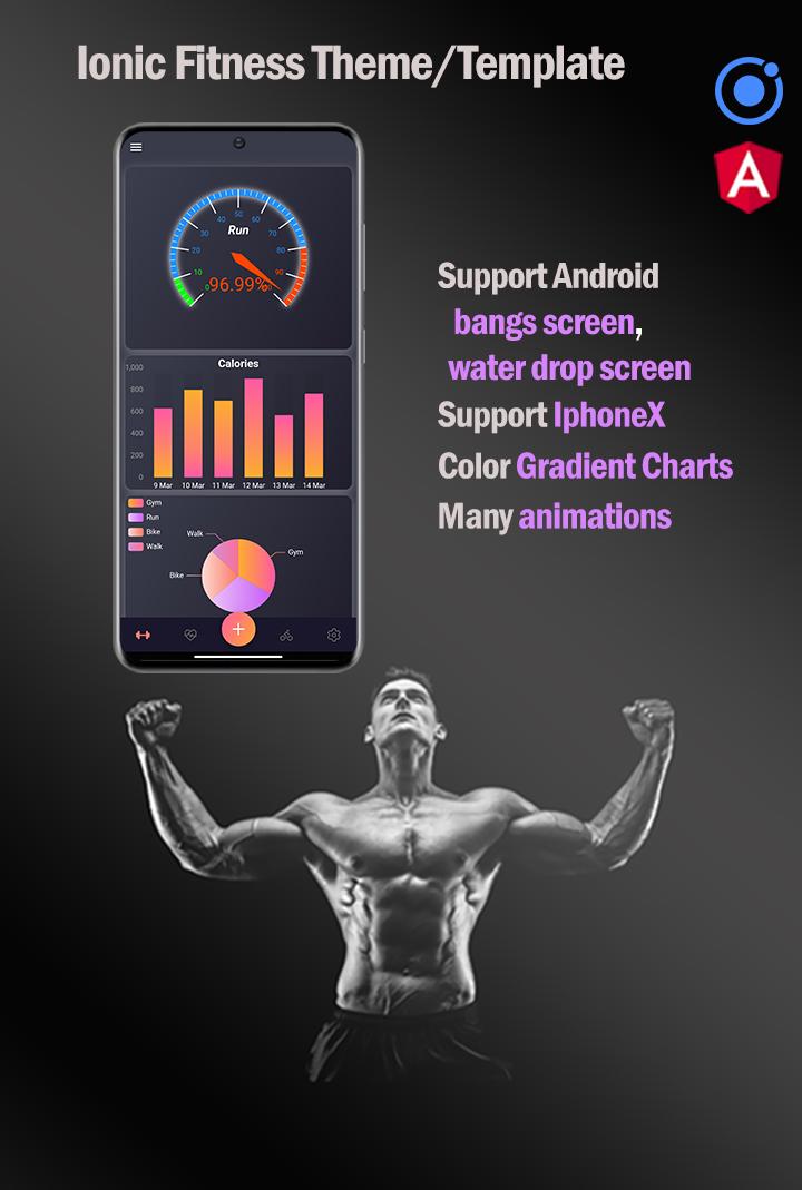 Ionic 5 / Angular 11 Fitness  Template/Full App | Starter App