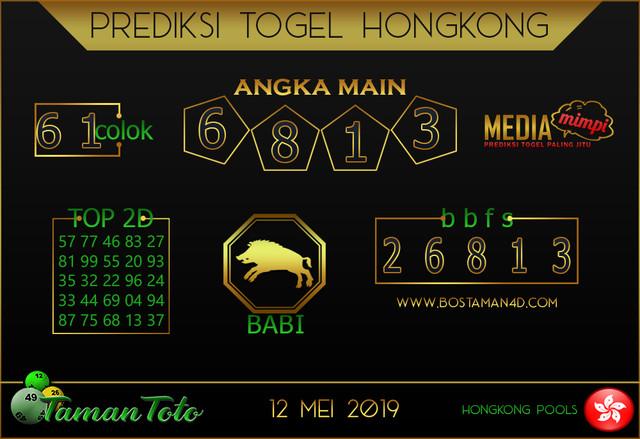 Prediksi Togel HONGKONG TAMAN TOTO 12 MEI 2019