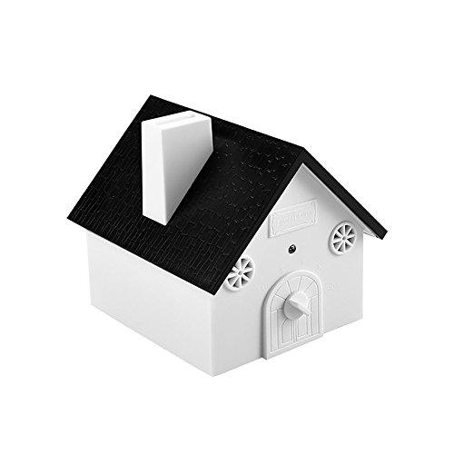 Ultrasonido Detener Dispositivo de Ladrar Mallalah Dispositivo Barking para Entrenamiento de Mascota Sin daños a Mascota y humanos, Fácil suspensión / montaje, 3 modos, Birdhouse Shaped