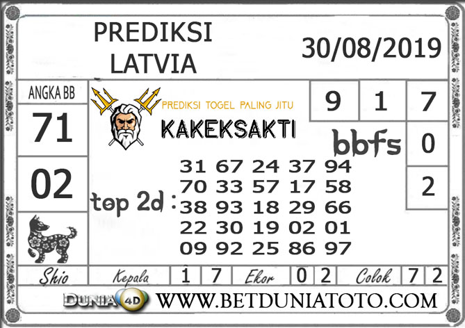 "Prediksi Togel ""LATVIA"" DUNIA4D 30 AGUSTUS 2019"