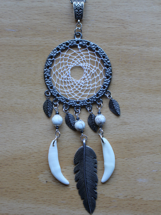 Dream catcher necklace - by SaQe-Art