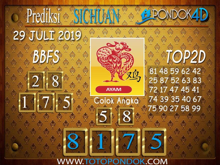 Prediksi Togel SICHUAN PONDOK4D 29 JULI 2019