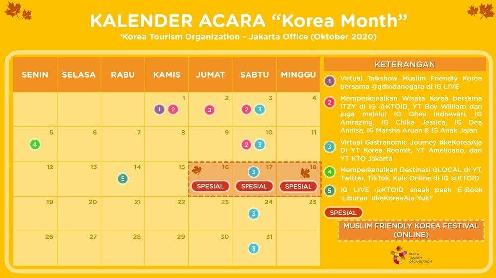 Jadwal Korea Month 2020 (saungkorea.com)