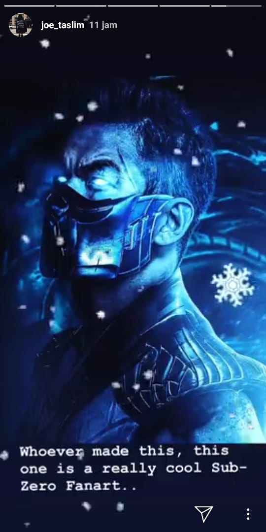 Fanart untuk Joe Taslim yang resmi mendapat peran untuk karakter Sub-Zero di Mortal Kombat.
